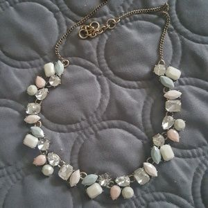 J. Crew pink gray necklace